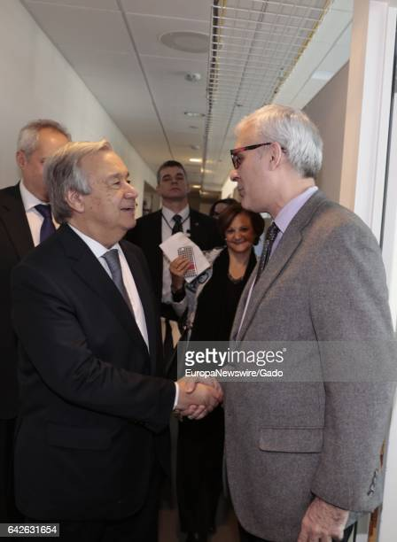 SecretaryGeneral Antonio Guterres meets with members of the United Nations Press Corp at the United Nations Headquarters in New York January 6 2017