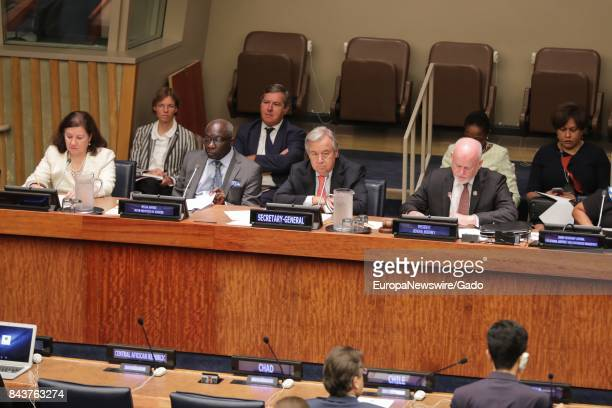 SecretaryGeneral Antonio Guterres Peter Thomson President of the seventyfirst session of the General Assembly and Maria Luiza Ribeiro Viotti Chef de...