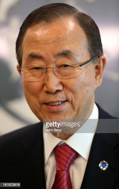 N SecretaryGeneral Ban Kimoon attends the 68th session of the United Nations General Assembly on September 25 2013 in New York City
