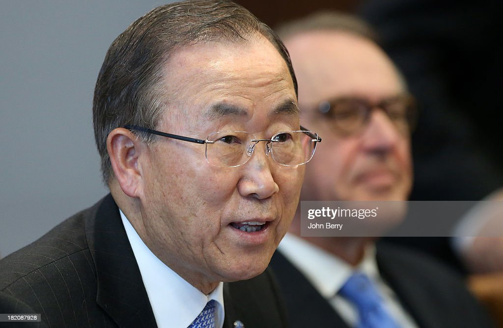 U.N. Secretary-General Ban Ki-moon attends the 68th session of the United Nations General Assembly on September 27, 2013 in New York City.