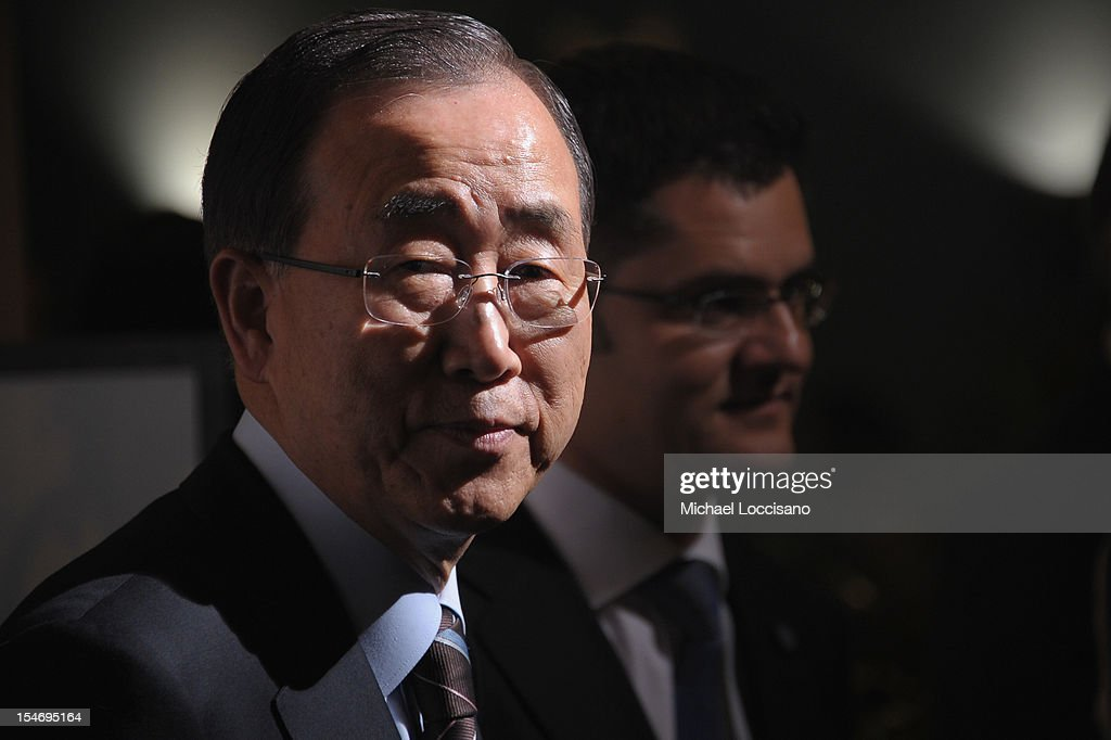 UN Secretary-General <a gi-track='captionPersonalityLinkClicked' href=/galleries/search?phrase=Ban+Ki-moon&family=editorial&specificpeople=206144 ng-click='$event.stopPropagation()'>Ban Ki-moon</a> attends the United Nations Day Concert at United Nations on October 24, 2012 in New York City.