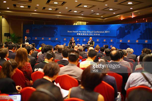 Secretarygeneral of Boao Forum for Asia and former Chinese ambassador to the United States Zhou Wenzhong and former US treasury secretary Henry...