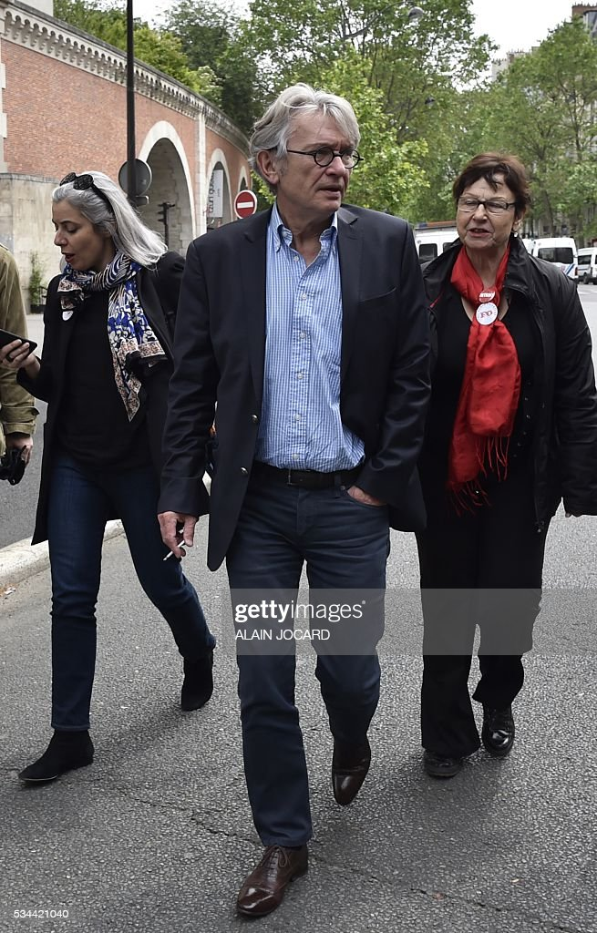 Secretary-general of Force Ouvriere (FO) French worker's union Jean-Claude Mailly arrives to take part in a protest against the government's labour market reforms in Paris, on May 26, 2016. The French government's labour market proposals, which are designed to make it easier for companies to hire and fire, have sparked a series of nationwide protests and strikes over the past three months.