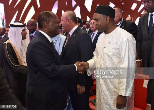 SecretaryGeneral of the Organisation of Islamic Cooperation Yousef bin Ahmad alOthaimeen Ivory Coast President Alassane Ouattara Turkey's Foreign...