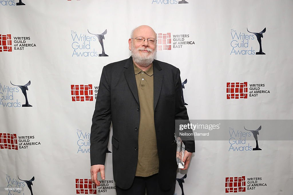 Secretary-Treasurer of Writers Guild of America, East Bob Schneider poses backstage at the 65th annual Writers Guild East Coast Awards at B.B. King Blues Club & Grill on February 17, 2013 in New York City.