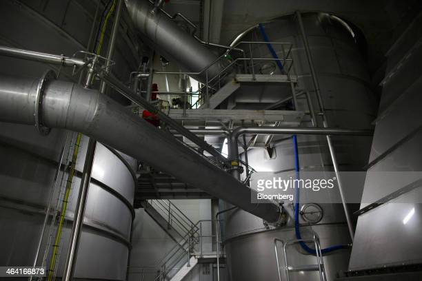 A section of a giant yeast extract drying machine operates at the Royal DSM NV site in Delft Netherlands on Monday Jan 20 2014 DSM fell the most in...