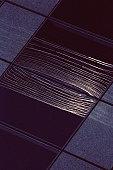 Section of modern tile floor
