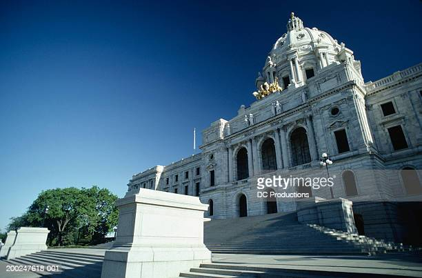 Section of State Capitol, St. Paul, MN, USA, (Low angle view)