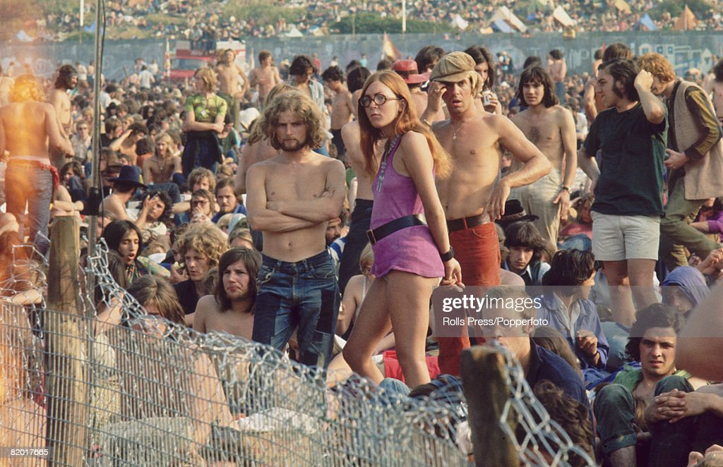 A section of the audience at the Isle of Wight Pop Festival 1970