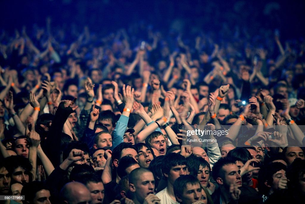 A section of the audience at the Versus Cancer charity concert at the Manchester Evening News Arena Manchester 30th March 2007