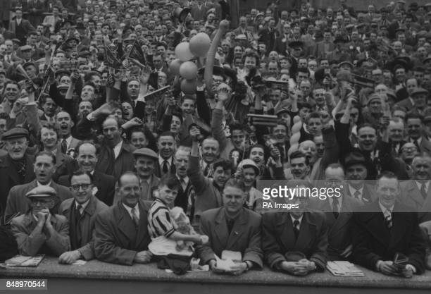 A section of the crowd at the FA Cup final match between Manchester United and Aston Villa at Wembley Approximately 100000 people attended *Low res...