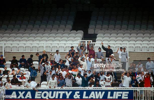 A section of the crowd watching the Lombard Under15 Challenge Cup Final between India U15 v Pakistan U15 at Lord's Cricket Ground London 20th August...