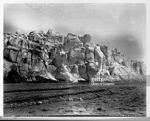 A section of the Muir Glacier as seen in 1897 DIscovered by American naturalist John Muir Muir Glacier is one of the most spectacular displays of ice...