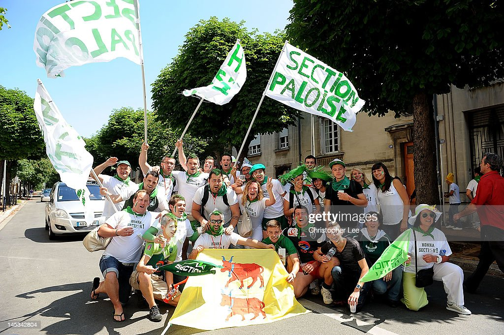 Section Paloise fans during the Pro Div 2 Finale 2012 between Section Paloise and Stade Montois Rugby at the Stade ChabanDelmas on May 27 2012 in...