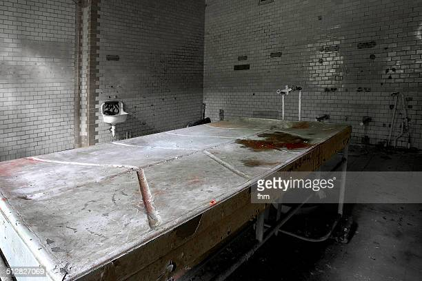 Section table in an abandoned hospital