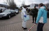 Securing of evidence is seen being made at the AlbertvilleSchool Centre on March 11 2009 in Winnenden near Stuttgart Germany A 17 year old ex pupil...