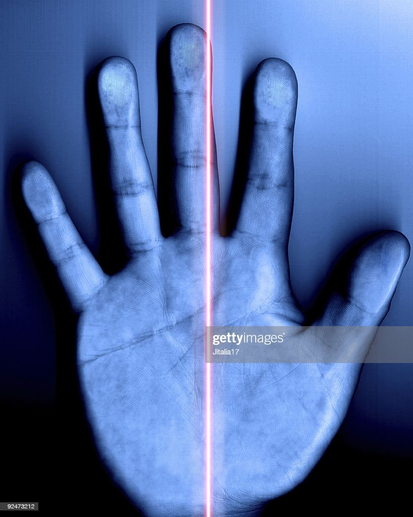 Security Hand Scanner with Laser
