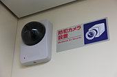 Security camera in elevator