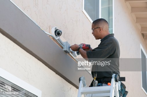 Installing stock photos and pictures getty images for Security camera placement software
