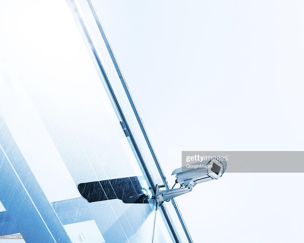Security Camera on Glass Facade