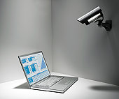 Security Camera on Laptop