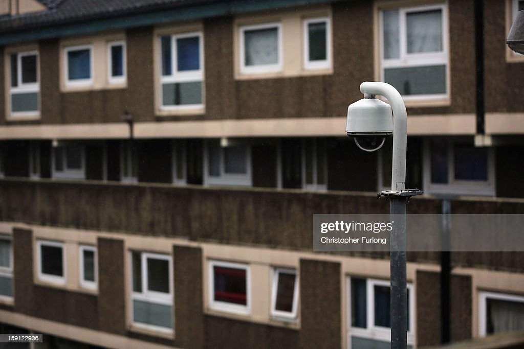 A security camera overlooks homes on the Falinge Estate, which has been surveyed as the most deprived area in England for a fifth year in a row, on January 8, 2013 in Rochdale, England. According to data provided by the Department for Communities and Local Government, 72 per cent of people in the local area are unemployed and seven per cent have never had a job. Four out of five children on the estate are living in poverty, with the area having one of the highest teenage pregnancy rates in the country. During today's House of Commons debate, the government urged MPs to back their planned 1 per cent cap on annual rises in benefits and some tax credits for three years from next April. Benefits for people of working age have historically risen in line with the rate of inflation.