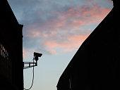 Security camera operating CCTV