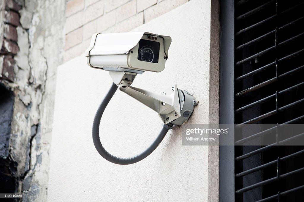 Security camera watching street