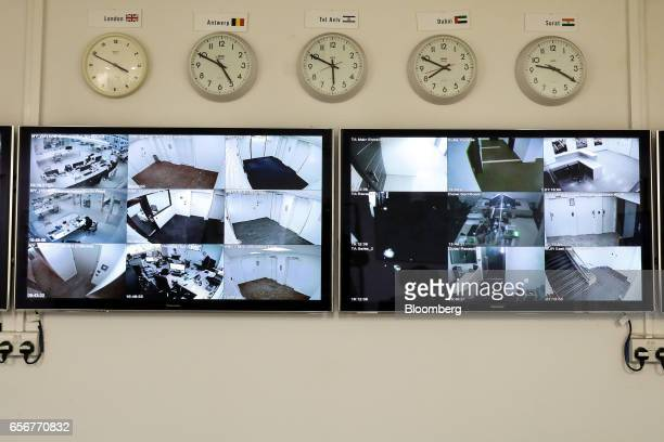 Security cameras monitor operations at the De Beers SA headquarters on Charterhouse Street in London UK on Wednesday Feb 1 2017 Number 17...