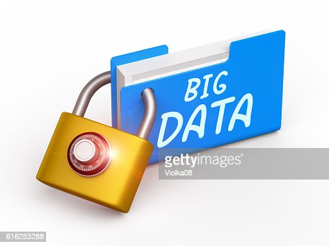 Security concept Big Data : Foto de stock