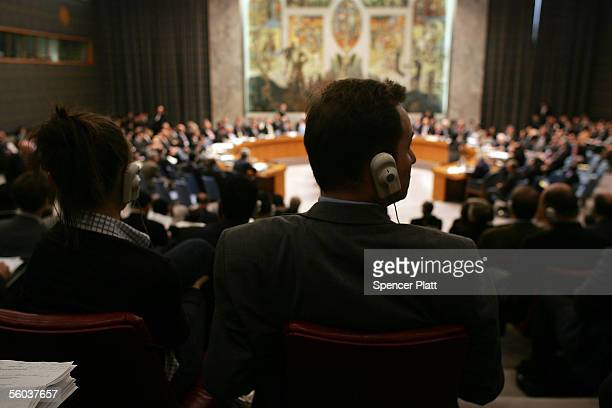Security Council meeting proceeds on Syria October 31 2005 at the United Nations in New York City The Security Council voted unanimously in favor of...