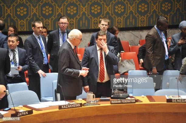 Security Council meeting The situation in the Middle East after US attack on Syria Russia's Deputy Permanent Representative to the UN Vladimir...