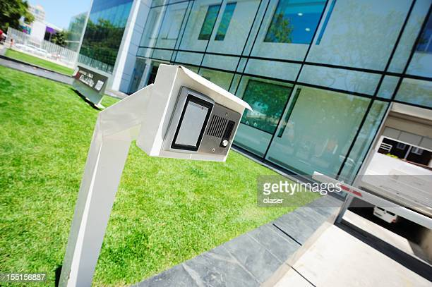 Security equipment, speaker, camera, entrance