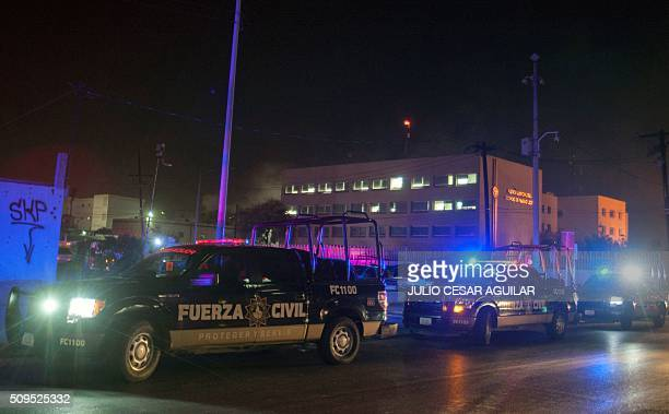 Security forces are deployed outside the Topo Chico prison in the northern city of Monterrey in Mexico where according to local media at least 30...