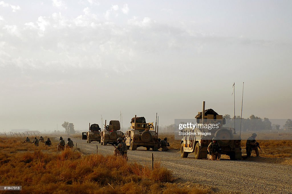 Security Forces performing a dry run of roll over drills