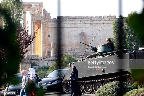 Security forces take security precaution during Baalbeck International Festival in Baalbeck Lebanon on 31 July 2014