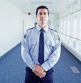 Security guard at airport, portrait