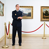 Security Guard at Art Gallery