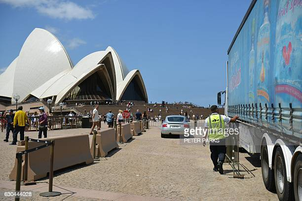 A security guard checks a truck before it enters the underground carpark at the Opera House in Sydney on December 23 2016 A 'significant' Islamic...