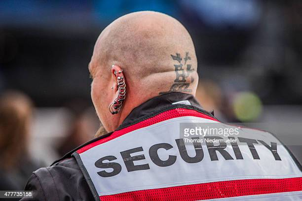 A security guard is seen during day 1 of the Southside Festival on June 19 2015 in Neuhausen Germany