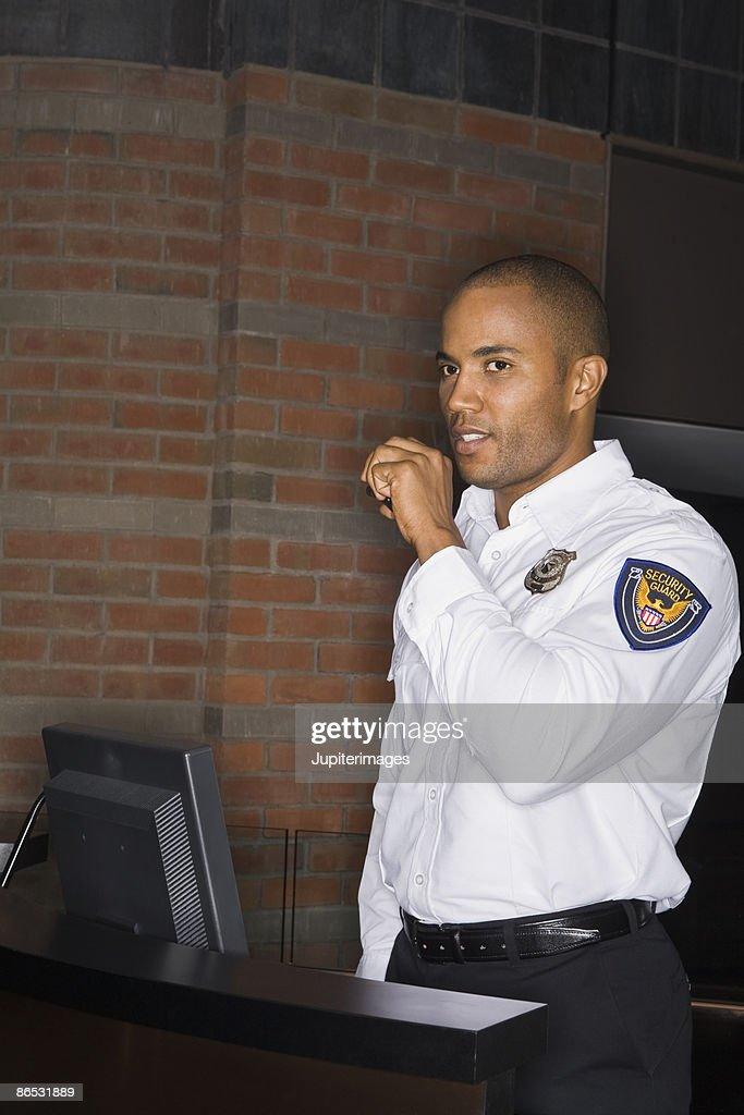 Security guard : Stock Photo