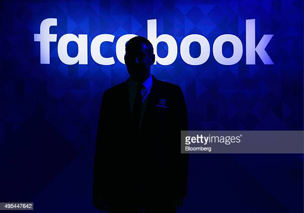 A security guard stands at the entrance to the Facebook Inc lounge at the Web Summit in Dublin Ireland on Tuesday Nov 3 2015 The summit which started...