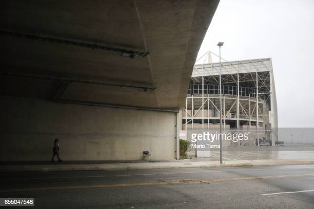 A security guard walks in Olympic Park on March 18 2017 in Rio de Janeiro Brazil Seven months after the Rio hosted the first Olympic games in South...