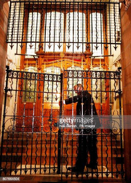 Security guards lock the gates of the Guildhall in Londonderry as the 195m Saville Report on the events of Bloody Sunday is finally delivered in the...