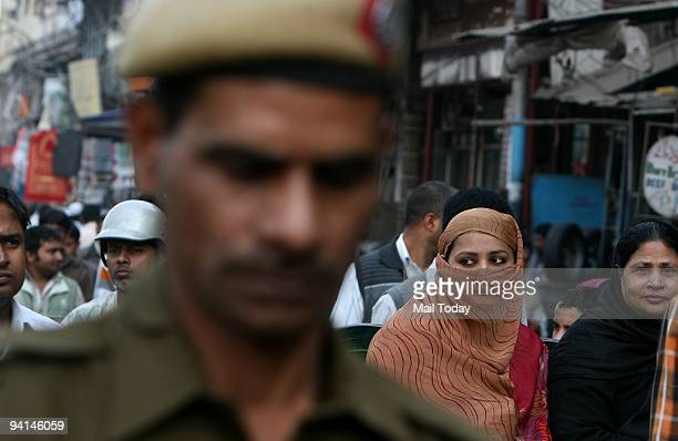 Security is tightened at the Jama Masjid in New Delhi on 17th anniversary of Babri Mosque demolition in New Delhi on Sunday December 6 2009