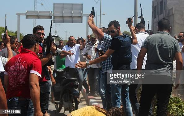 Security measures are taken after an armed attack on a tourist hotel in Sousse east Tunisia left at least 27 people dead including foreigners and...