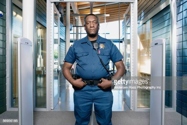 Security officer posing