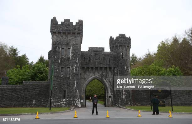 Security outside Ashford Castle in Co Mayo where Golf star Rory McIlroy is to marry Erica Stoll