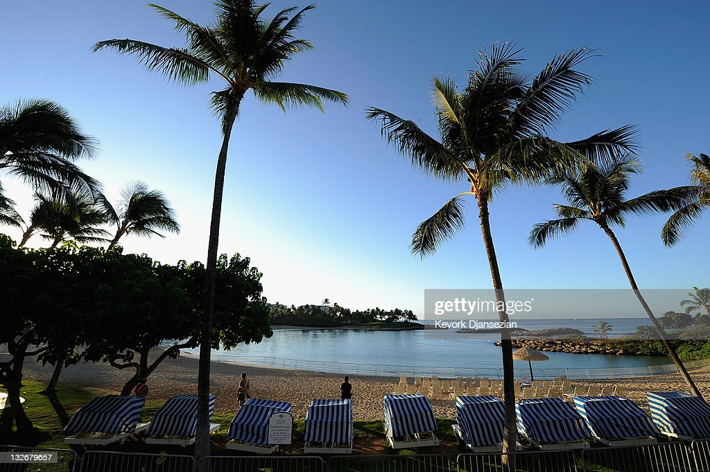 Security patrols the beach during the AsiaPacific Economic Cooperation summit on November 13 2011 in Ko Olina Hawaii The United States hosts this...