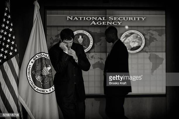 Security personnel inside the National Security Agency headquarters in Fort Meade Maryland outside Washington DC The NSA is the central producer and...